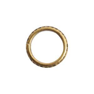 Jumpring 10mm Hammered Edge CircleAntique Gold