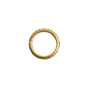 Jumpring 10mm Hammered Edge CircleAntique Gold