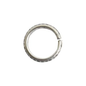 Jumpring 10mm Hammered Edge CircleAntique Silver