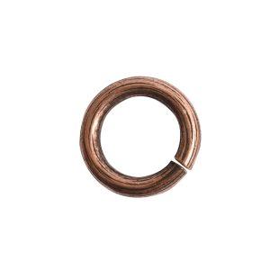 Jumpring 12mm Bark CircleAntique Copper