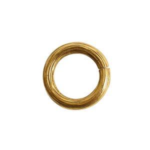 Jumpring 12mm Bark CircleAntique Gold