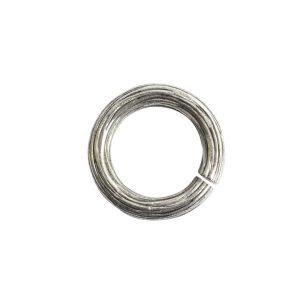 Jumpring 12mm Bark CircleAntique Silver