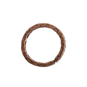 Jumpring 12mm Square Wire Hammered CircleAntique Copper