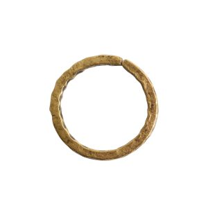 Jumpring 12mm Square Wire Hammered CircleAntique Gold