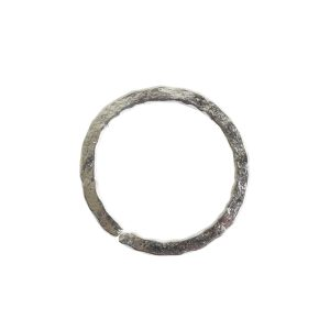 Jumpring 12mm Square Wire Hammered CircleAntique Silver