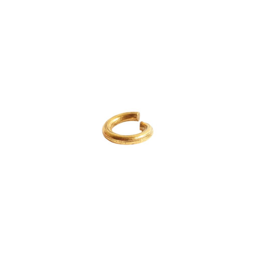 Jumpring 6mm Bark CircleAntique Gold