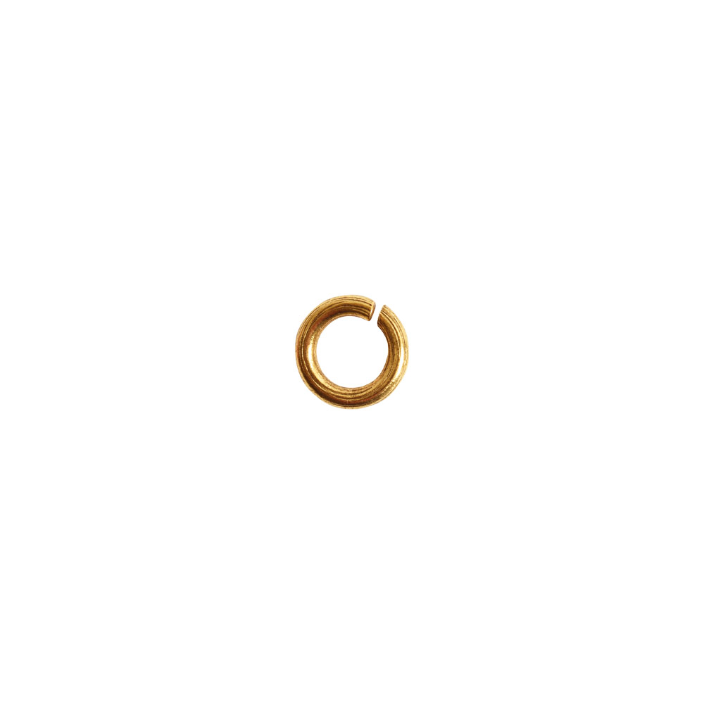 Jumpring 6mm Bark CircleAntique Gold