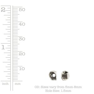 Metal Bead Organic Itsy Assortment<br>Antique Silver
