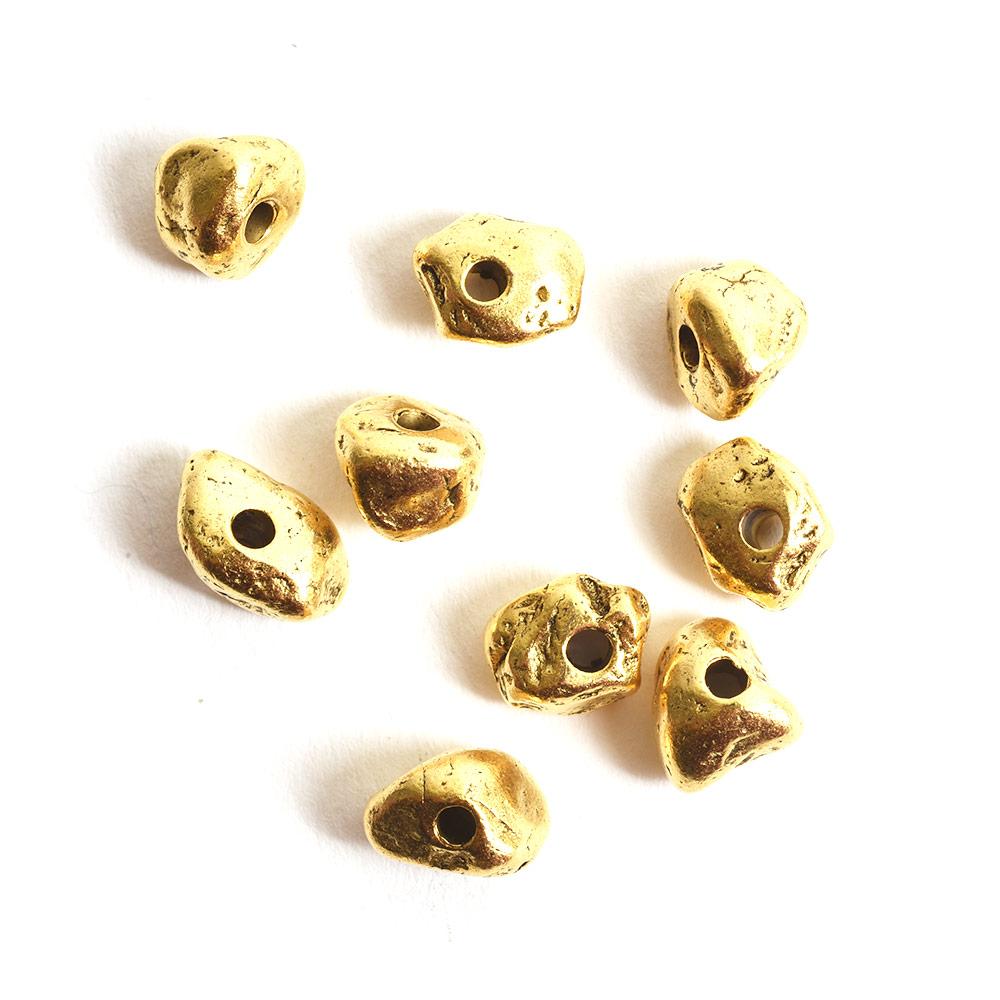 Metal Bead Organic Mini AssortmentAntique Gold