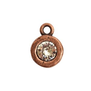 Organic Bezel Mini Circle Single LoopAntique Copper