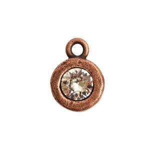Organic Bezel Mini Circle Single LoopAntique Copper