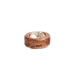 Organic Bezel Mini Circle Single Loop<br>Antique Copper