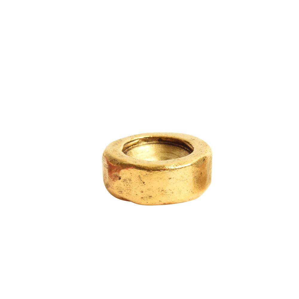 Organic Bezel Mini Circle Single LoopAntique Gold