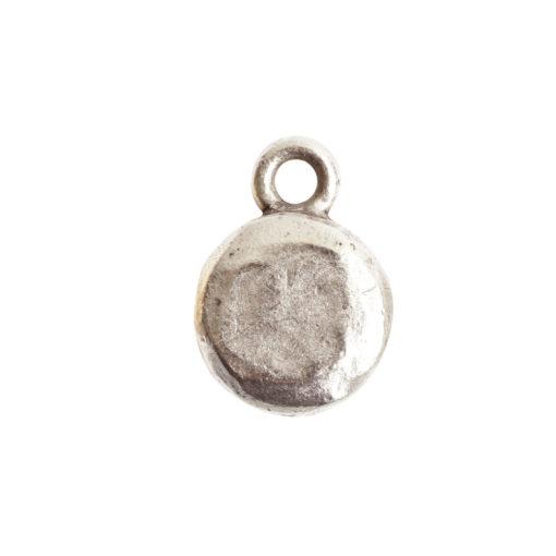 Organic Bezel Mini Circle Single LoopAntique Silver