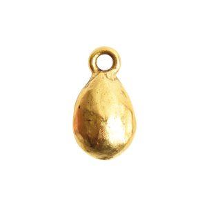 Organic Bezel Mini Drop Single Loop<br>Antique Gold