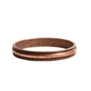 Open Pendant Beaded Large Circle Single LoopAntique Copper
