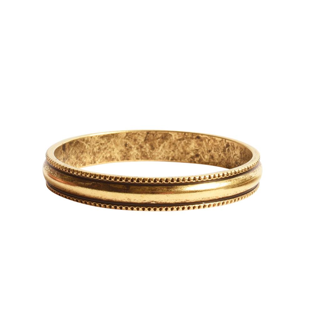 Open Pendant Beaded Large Circle Single LoopAntique Gold