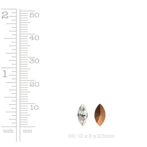 Preciosa Crystal 10x5mm NavetteCrystal