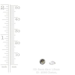 Preciosa Crystal Flat Back 5mm Circle<br>Crystal