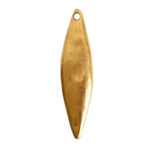 Primitive Tag Elongated Diamond Single HoleAntique Gold