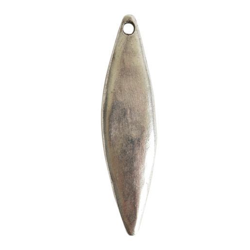 Primitive Tag Elongated Diamond Single Hole<br>Antique Silver 1