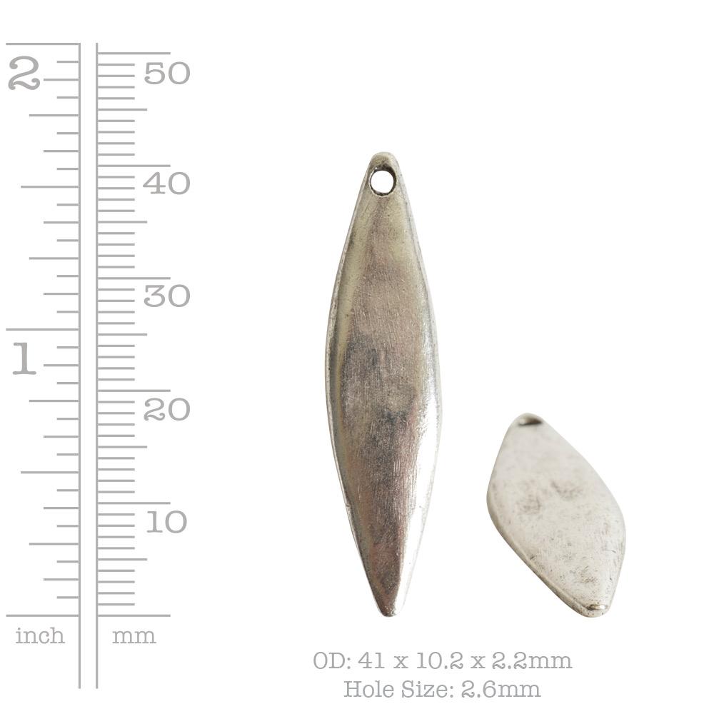 Primitive Tag Elongated Diamond Single HoleAntique Copper