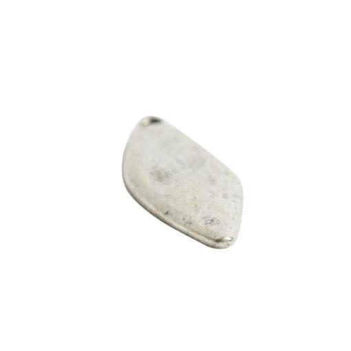 Primitive Tag Elongated Diamond Single HoleAntique Silver