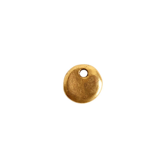 Primitive Tag Mini Circle Single Hole<br>Antique Gold 1