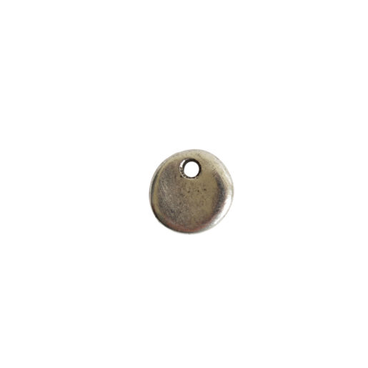 Primitive Tag Mini Circle Single Hole<br>Antique Silver 1