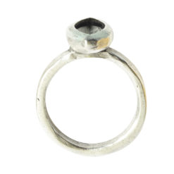 Ring Organic Bezel Mini Navette Size 7Antique Silver