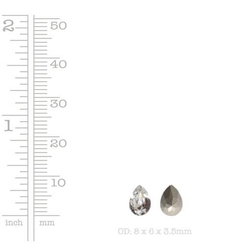 Swarovski Crystal 8x6mm PearCrystal
