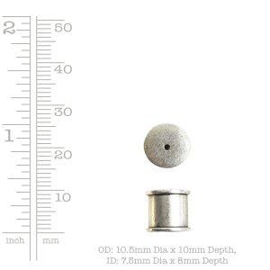 Tassel Top Channel 7mm Single Hole<br>Antique Copper