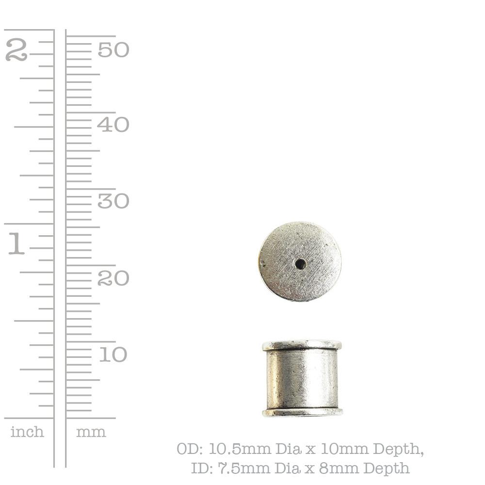 Tassel Top Channel 7mm Single HoleAntique Copper