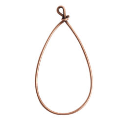 Wire Frame Large Pear Single LoopAntique Copper