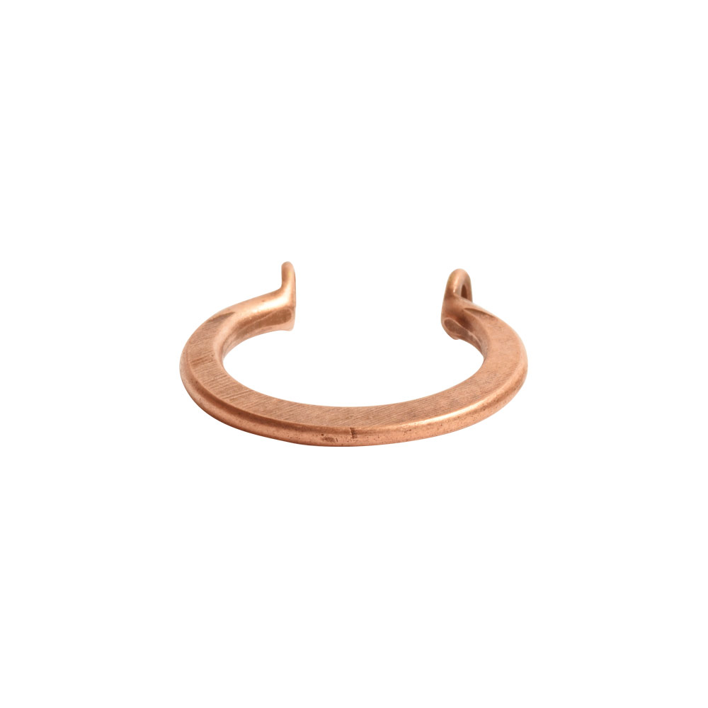 Wire Frame Open Mini Circle Flat Double HoleAntique Copper