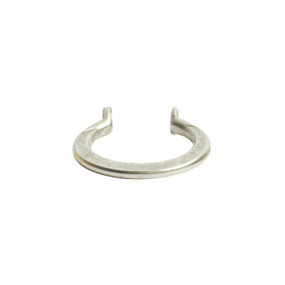 Wire Frame Open Mini Circle Flat Double HoleAntique Silver