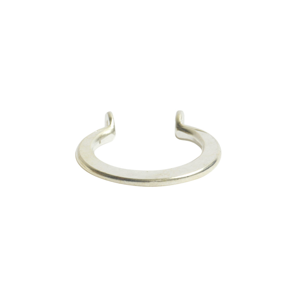 Wire Frame Open Mini Circle Flat Double HoleSterling Silver Plate