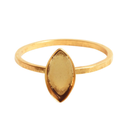 Ring Hammered Thin Bitsy Navette Size 8Antique Gold