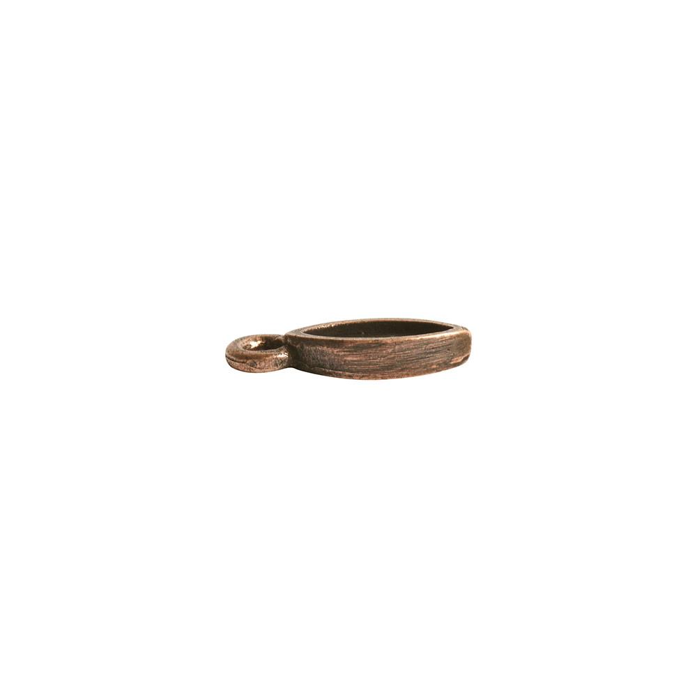 Bitsy Bezel Navette Single LoopAntique Copper