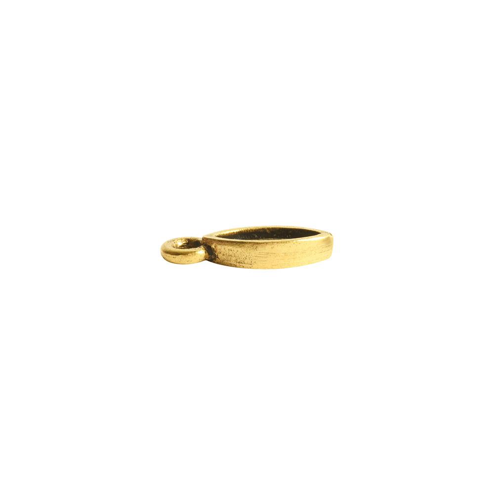 Bitsy Bezel Navette Single LoopAntique Gold