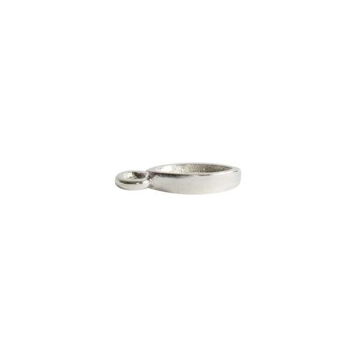 Bitsy Bezel Navette Single LoopSterling Silver Plate