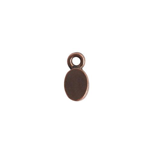Bitsy Bezel Oval Single LoopAntique Copper