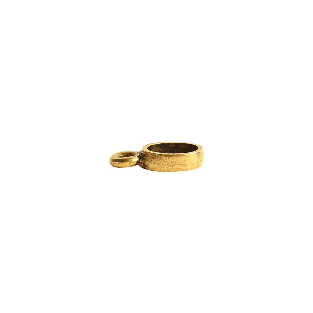 Bitsy Bezel Oval Single LoopAntique Gold