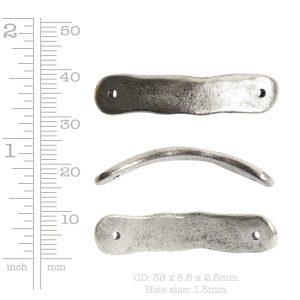 Bracelet Link Tag Small Rectangle<br>Antique Copper