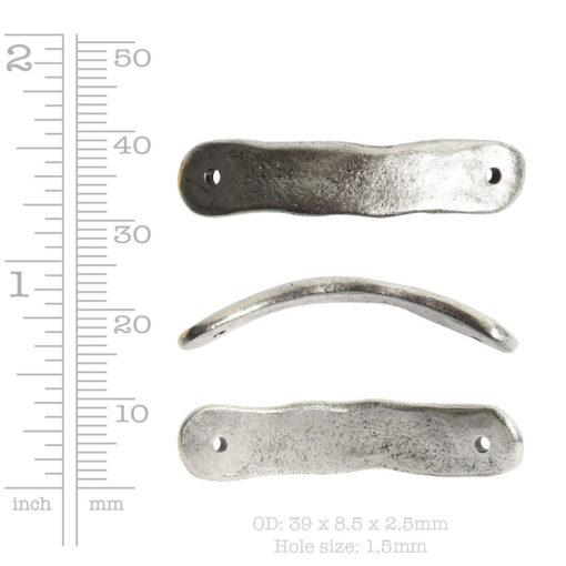 Bracelet Link Tag Small RectangleAntique Gold