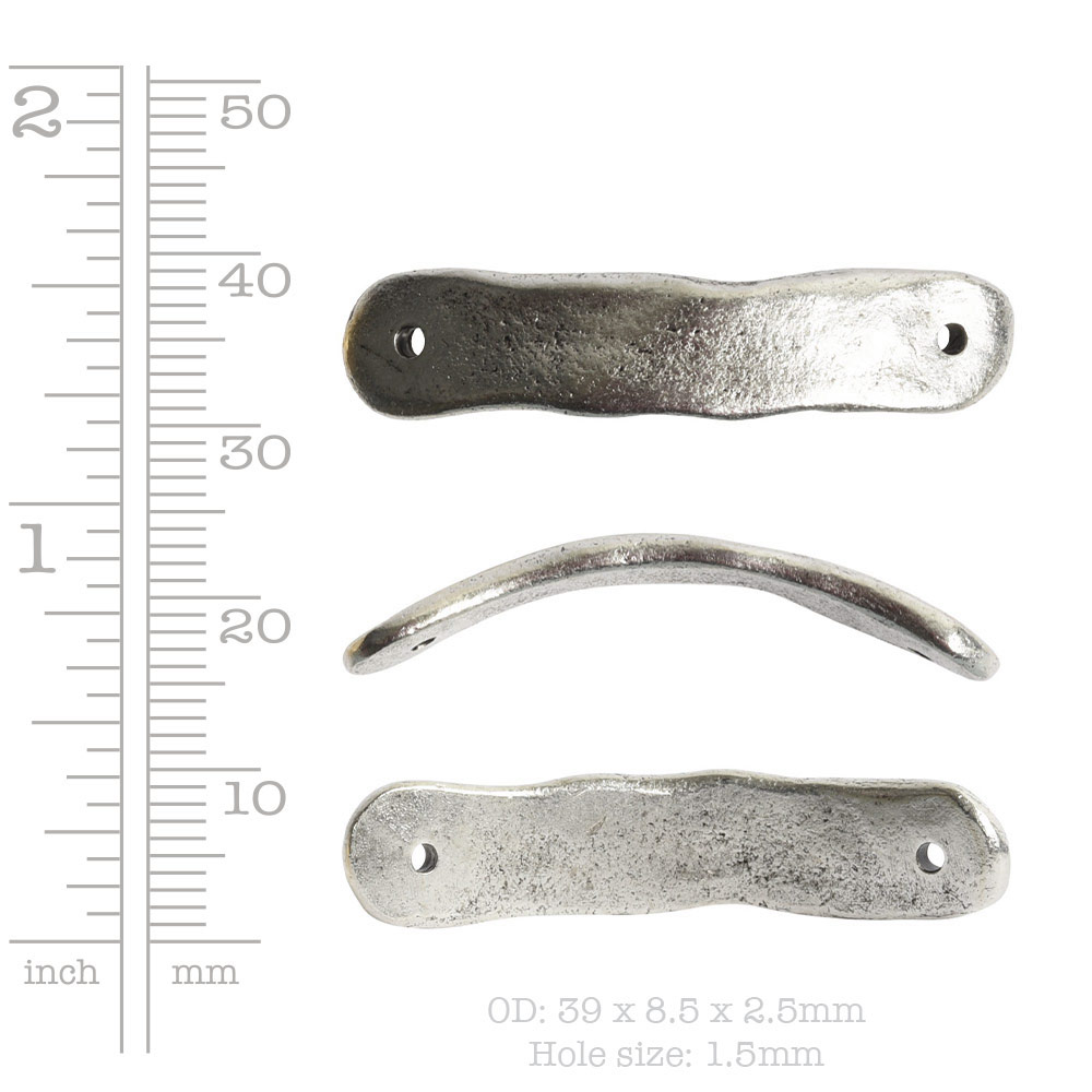 Bracelet Link Tag Small RectangleAntique Copper