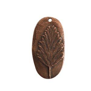 Charm Alder LeafAntique Copper