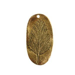 Charm Alder LeafAntique Gold