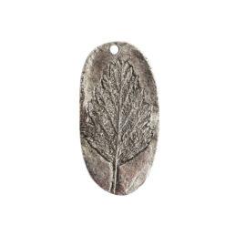 Charm Alder LeafAntique Silver