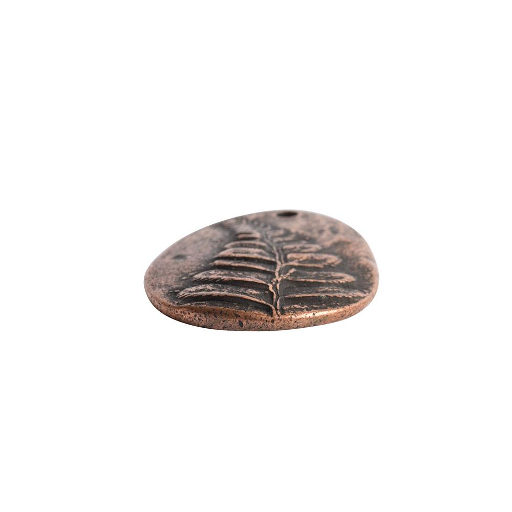 Charm Large FernAntique Copper
